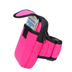 Bersepeda Olahraga Menjalankan Cell Phone Arm Band Bag Pergelangan Tangan Pouch Key Paket Rose-Intl