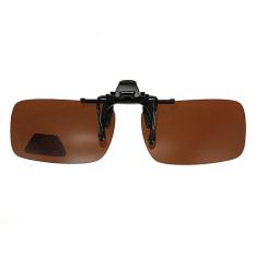 Jual Coklat Gelap Hijau Mengemudi Terpolarisasi Membalik Badan Klip Lensa Pada Kacamata Hitam Kacamata Grosir