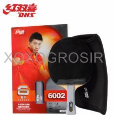 Review Dhs Bat Tenis Meja Raket Pingpong 6 Star 6002 Profesional Merah Hitam