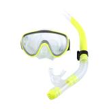 Promo Menyelam Kaca Tempered Snorkeling Set Peralatan Snorkeling Lengkap Tabung Pernapasan Kering Kuning International Tiongkok