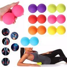 Beli Double Lacrosse Ball Mobility Myofascial Trigger Point Release Massage Exercise Pink Intl Baru