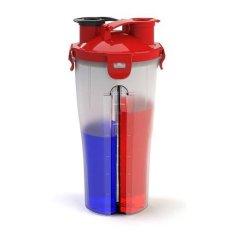 Beli Ancaman Ganda Protein Cangkir Air Botol Pengocok Mixer Dengan Kompartemen Penyimpanan Ganda 850 49 G Merah International Murah Di Tiongkok