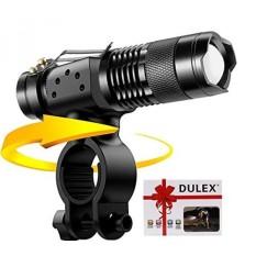 Dulex Sepeda Lampu Depan-Ultra Cerah 300 Lumen XML Q5 Zoomable Isi Ulang LED Mini Taktis Senter dengan Lampu Senter- internasional