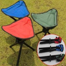 Eachgo Handy Folding Stool Kursi Portabel Kursi untuk Outdoor Memancing Berkemah Piknik-Intl