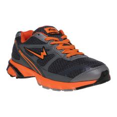 Diskon Eagle Ecolight Sepatu Lari Pria Dark Grey Oranye Eagle