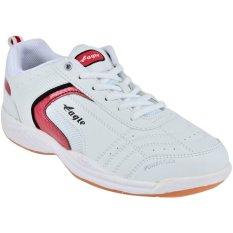 Jual Eagle Sepatu Badminton Winstar Putih Merah Eagle Branded