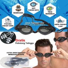 EELIC KAR-816 -HT Hitam Kacamata Renang Anti Radiasi Dengan Tutup Telinga