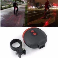 Eigia Bicycle Laser Strobe Taillight 5 LED Lampu LED Sepeda s3018 - Merah