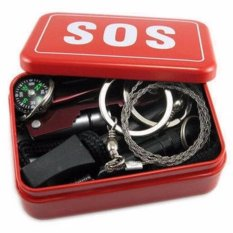 Jual Eigia Portable Sos Tool Kit Earthquake Emergency Onboard Outdoor Survival Red Eigia Online