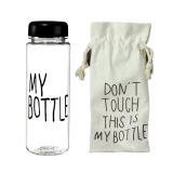 Spesifikasi Elenxs Portabel Plastik Botol Jus Buah Cangkir Air Dan Tas Kanvas Transparan Baru