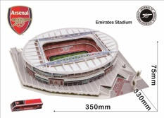 Emirates Stadium Model 3D PUZZLE Stadion Sepak Bola Alexis Sanchez Mesut Ozil Rumah Tim Arsenal Football Club Bar Restaurant KTV Dekorasi Hadiah Ulang Tahun Souptoys Stadium Model Football Hadiah-Intl