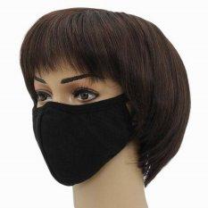 Spesifikasi Eozy Fashion Baru Di Luar Mulut Elang Bentuk Katun Soft Mulut Meredam Anti Debu Wajah Masker Mulut Hitam Eozy