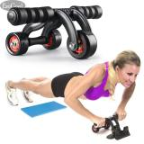 Esogoal 3 Wheel Ab Roller Wheel Pro Core Kebugaran Latihan Perut Peralatan Gym Home Workout Mesin With Kneepad Lantai Stopper Di Tiongkok