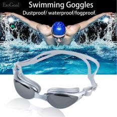 EsoGoal dewasa Non - Fogging Anti UV berenang kacamata renang Goggles (perak Gray)