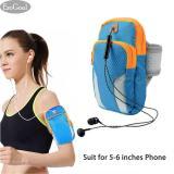 Harga Esogoal Olahraga Armband The Man Wanita Running Bag Lengan Tas Pinggang Pouch Armbag Leher Pouch Pack For For Menjalankan Bersepeda Hiking Berkemah Perjalanan Latihan Hitam Sesuai For 5 6 Inches Telepon Merk Esogoal