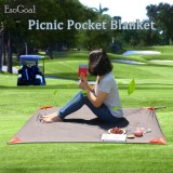 Review Esogoal Pocket Blanket With Carry Bag Attached Multipurpose For Beach Picnic Outdoor And Travel Mat Intl Terbaru