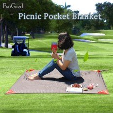 Esogoal Pocket Blanket With Carry Bag Attached Multipurpose For Beach Picnic Outdoor And Travel Mat Intl Esogoal Diskon 50