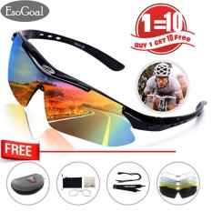 EsoGoal Polarize Olahraga Bersepeda Sunglasses untuk Pria Wanita Bersepeda Riding Running dengan 5 Lensa Yang Dapat Dipertukarkan-Intl