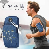 Ongkos Kirim Esogoal Sports Armband Multifunctional Pockets Workout Running Armbag With Key Earphone Hole For Iphone All Below 6 2 Smartphone Blue Di Tiongkok