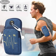 Harga Esogoal Sports Armband Multifunctional Pockets Workout Running Armbag With Key Earphone Hole For Iphone All Below 6 2 Smartphone Blue Termurah