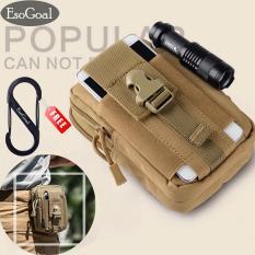 Diskon Esogoal Taktis Molle Pouch Edc Utilitas Sabuk Pinggang Gear Bag Alat Organizer With Cell Phone Holster Holder Hitam Esogoal