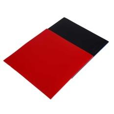 Hebat 2 Pcs Raket Tenis Meja Pips Di Raquette Spons Karet Merah/Hitam Kualitas-Intl