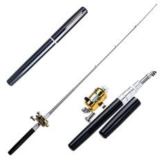 Menakjubkan Mini Saku Portabel Bentuk Pena Aluminium Paduan Ikan Fishing Rod dengan Reel-Intl