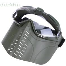 Masker Wajah untuk CS Paintball Taktik Permainan Proof Breathable Cosplay-Intl(Green)