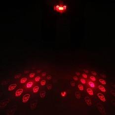 Fang Fang 5 LED + 2 Laser Sepeda Lampu Sepeda Ekor Ekor Berkedip Peringatan Isi Ulang