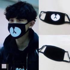 English. Lembut Anti Debu Kapas Musim Dingin Hangat Masker Mulut (hitam) Fang Fang