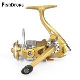 Promo Fishdrops 12 1Bb Aluminium Alloy Golden Fly Reel Pancing Dengan Kiri Kanan Dipertukarkan Handle Ae1000 Intl Di Tiongkok