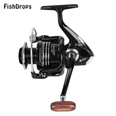 Fishdrops 13BB ONE WAY Clutch Ukuran 5000 Full Metal Spool Spin Fishing Fishing Reel (Bright Black)-Intl