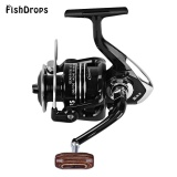Ulasan Fishdrops 13Bb One Way Clutch Size 7000 Full Metal Spool Spinning Carp Fishing Reel Bright Black Intl