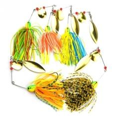 Putaran Mata Pancing Memancing Memancing Spinnerbait Buzzbait Bass Tombak 16.3G 5 Pcs/set