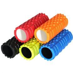 Fitness Gym Latihan EVA Yoga Foam Roller untuk Fisio Pijat Pilates Tight Otot (merah)-Intl