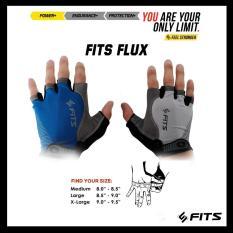 FITS Gloves Flux Sarung tangan Gym Fitnes Berkendara Strap Gym
