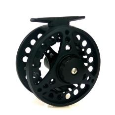 Fly Fishing Reel dengan Diecast Paduan Aluminium Paduan CNC 7/8 Berat (Hitam, Perak)-Intl