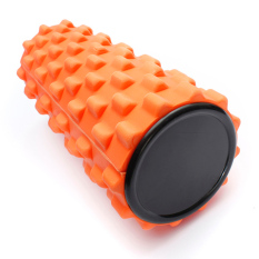 FLY Yoga Fisio Gym EVA Tabel Busa Rol Pilates Back Massage Orange32x12cm-Intl