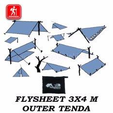 Ongkos Kirim Flysheet 3X4 Meter Waterproof Tarptent Atap Tenda Bivak Darurat Tenda Survival Di Jawa Barat