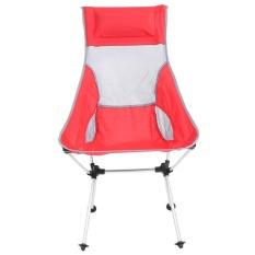 Folding Aluminium Alloy Kursi Kursi Roda dengan Tas untuk Piknik Berkemah Di Luar Ruangan Pantai (Merah)-Intl
