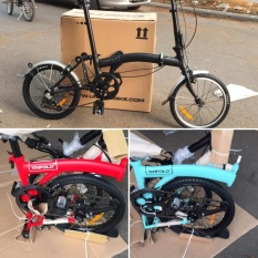 folding bike TRIFOLD 3 SPEED INTERNAL GEAR sepeda lipat BUKAN brompton