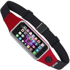[Dari. AMERIKA SERIKAT] Mesin Design Group NGN Sport-iPhone Running Belt/Bersepeda Pinggang Pack/Fitness Belt dengan Air Tahan Pocket dan Clear Touchscreen Jendela untuk IPhone, Android dan Sebagian Besar Smartphone (Merah) B01MZ2L90R-Intl