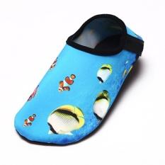 FS Besar Penjualan Lembut Nyaman Uniseks Selip-Tahan Kebugaran Sepatu Berenang Udara Sepatu Bertelanjang Kaki Aqua Kaus Kaki Sepatu untuk Pantai outdoor Berselancar Yoga Kasual Peduli Sepatu Warna Kulit: dunia Di Bawah Air Ukuran: 34/35-Internasional