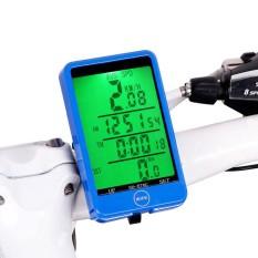 FS Layar LCD Anti-Air Sepeda Nirkabel Komputer Bersepeda Odometer Speedometer untuk Pelacakan Berkuda Kecepatan dan Jarak, bangun Otomatis, Lampu Latar Spesifikasi: 576C Biru Inggris Nirkabel