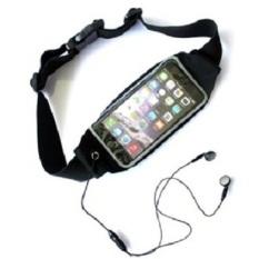 G-smart Black Waterproof Waist Sport Bag for Smartphone 5.5 - 6