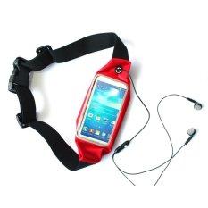 G-smart Red Waterproof Waist Sport Bag for Smartphone 4.7 - 5.2