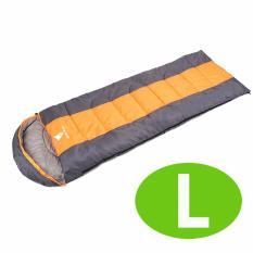 GEERTOP® Kantong Tidur Nyaman Ringan Portable-ATTACHABLE For Berkemah Mendaki Backpacking (5-18 ℃) L-Jeruk-Internasional