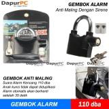Harga Gembok Alarm Anti Maling Kunci Pengaman Motor Rumah Pagar Kinbas Terbaik