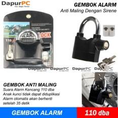 Gembok Alarm Anti Maling Kunci Pengaman Motor - Rumah - Pagar