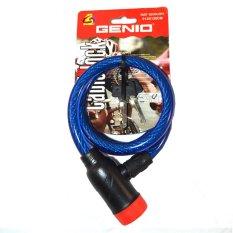 Spesifikasi Genio Bike Lock Kunci Spiral Gembok Sepeda 130Cm Biru Dan Harganya